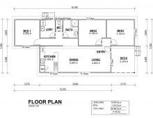 3 Bedroom Kit Home Floor Plan