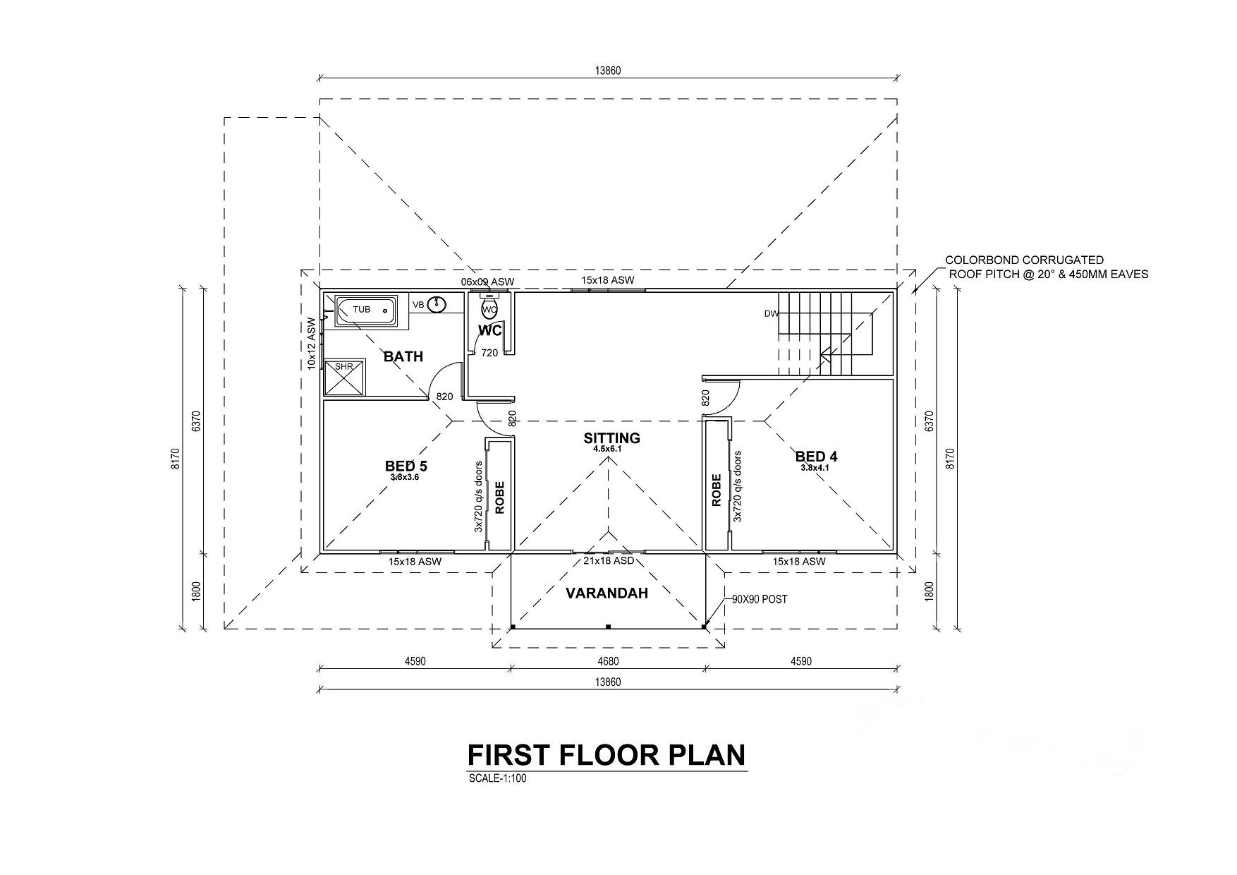 2 Story Kit Home Floor Plan
