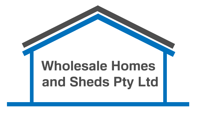 Wholesale Homes and Sheds Logo