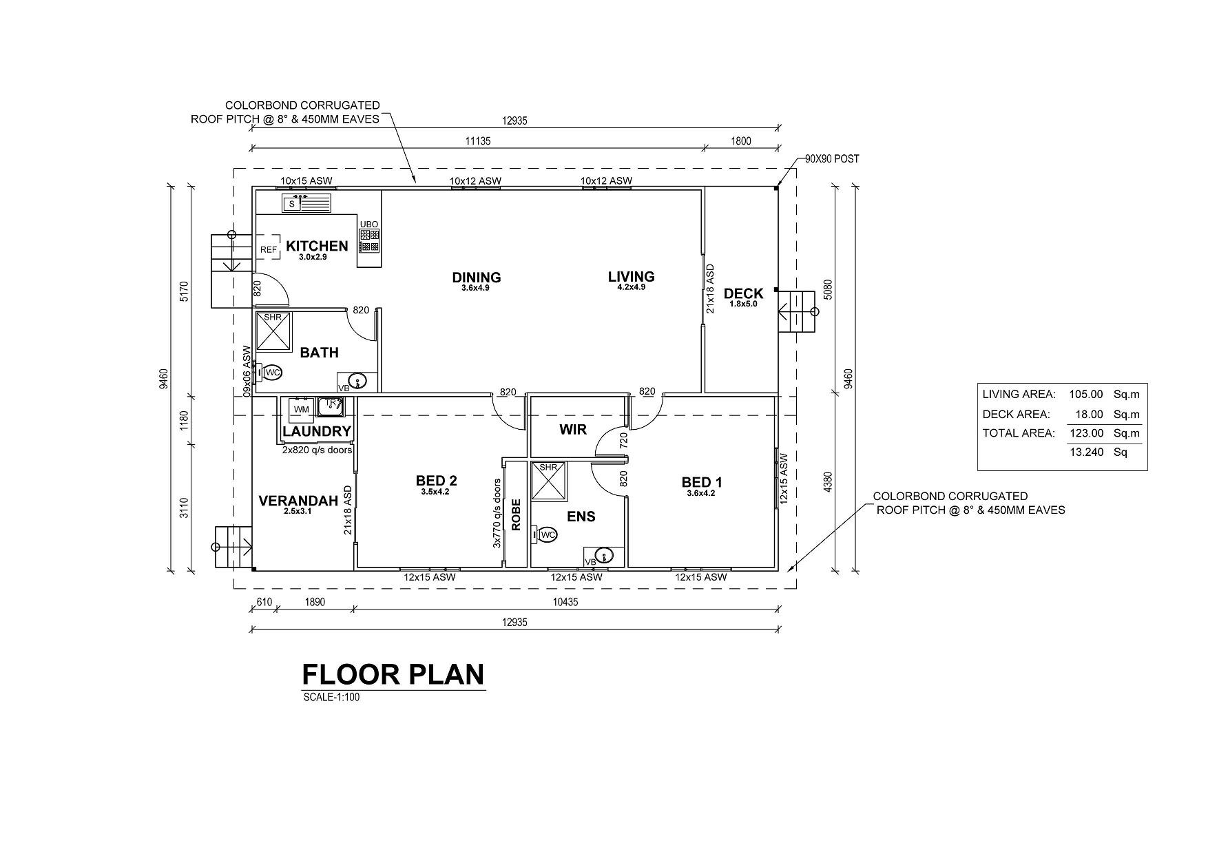 Ocean View Floor Plan