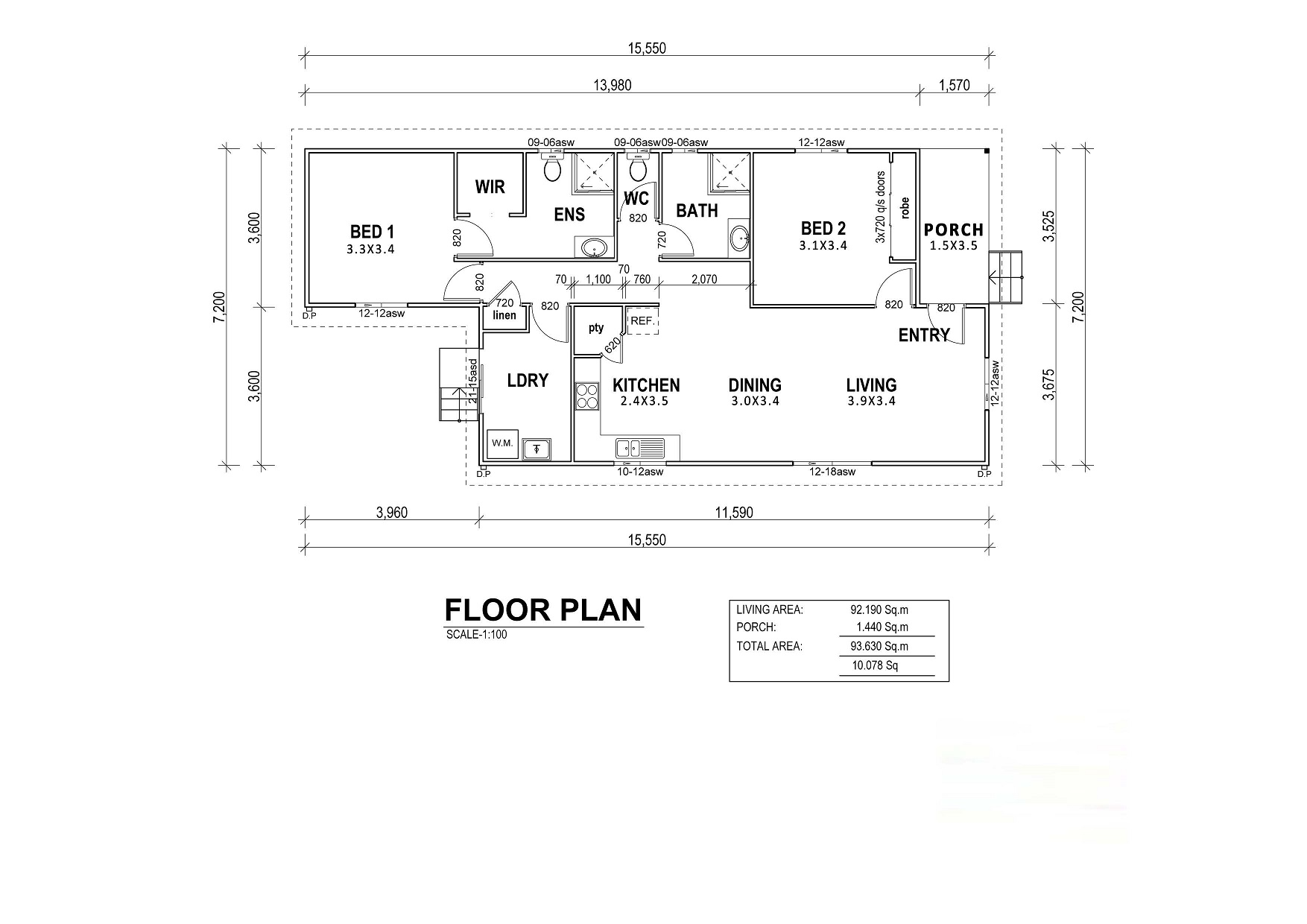 2 Bedroom Kit Home Roseland