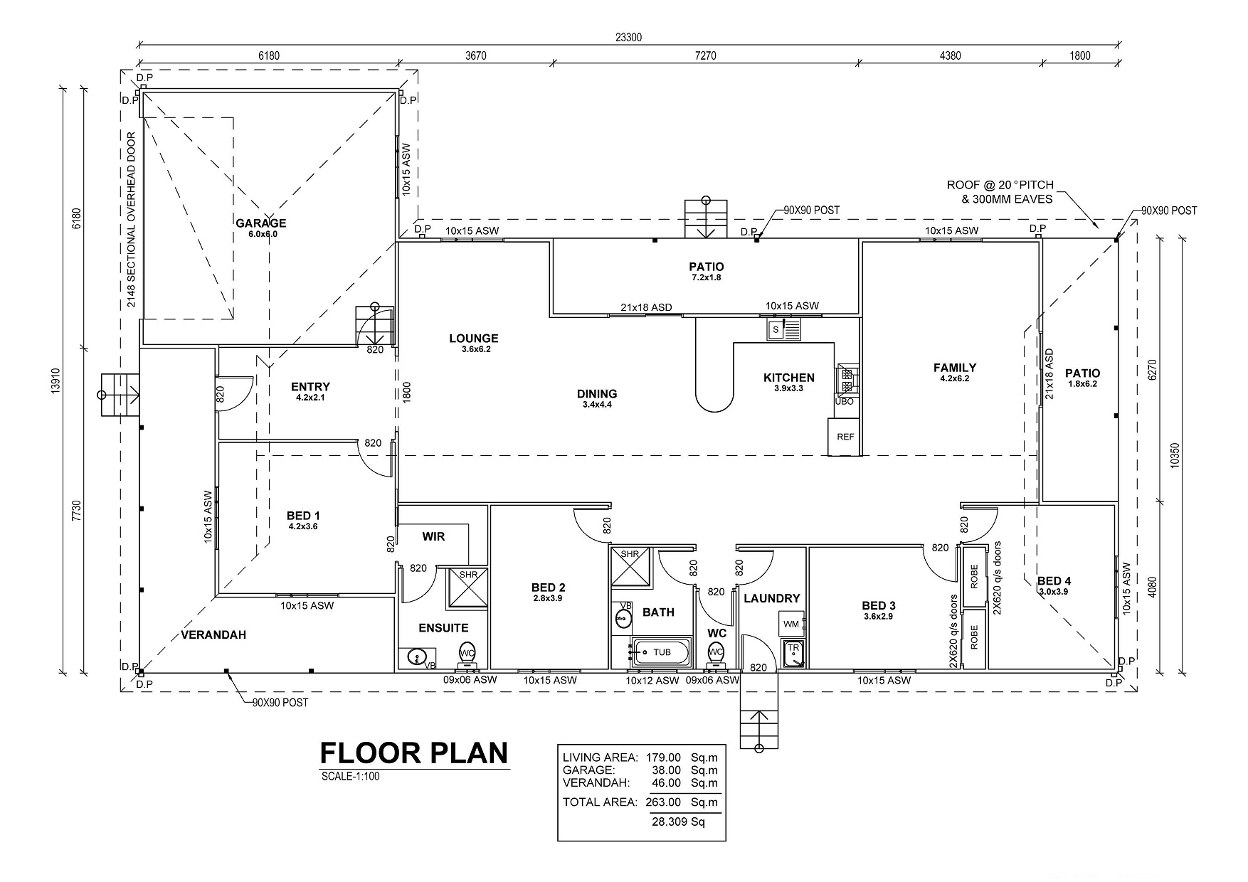 4 Bedroom Kit Home Floor Plan